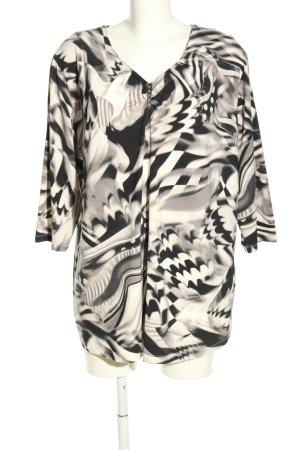 Bexleys Schlupf-Bluse schwarz-weiß abstraktes Muster Casual-Look