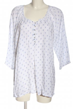 Bexleys Slip-over Blouse white-blue abstract pattern casual look