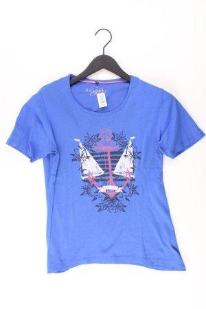 Bexleys T-Shirt blue-neon blue-dark blue-azure cotton