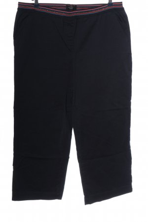 Bexleys Stoffhose blau-rot Streifenmuster Casual-Look