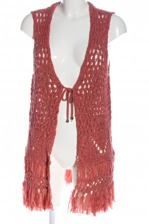 Bexleys Knitted Vest red weave pattern casual look