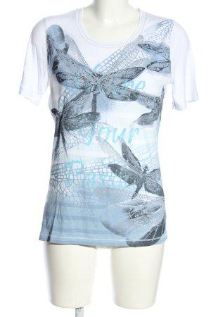 Bexleys T-Shirt Allover-Druck Casual-Look