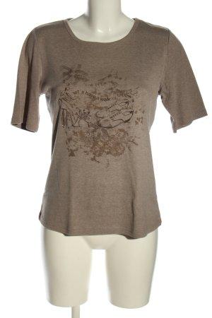 Bexleys T-Shirt braun meliert Casual-Look