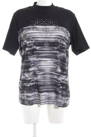 Bexleys T-Shirt schwarz Mustermix Casual-Look