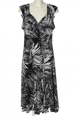Bexleys Empire Dress white-black abstract pattern casual look