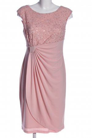 Bexleys Spitzenkleid pink Blumenmuster Glanz-Optik