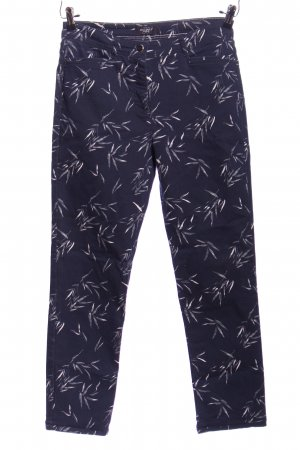 Bexleys Treggings blue-white allover print casual look