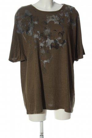 Bexleys T-Shirt braun-hellgrau abstraktes Muster Casual-Look