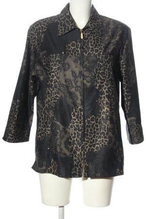 Bexleys Between-Seasons Jacket black-cream animal pattern casual look