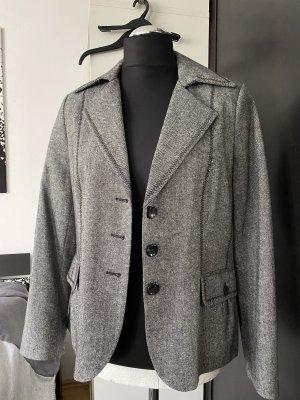 Bexley's Woman Klassischer Blazer grijs-zwart