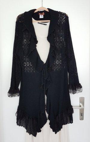 Aprico Veste en tricot noir acrylique