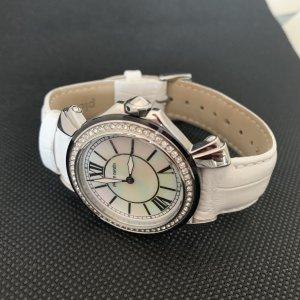 Bezaubernde Armbanduhr -Pierre Cardin - weiß - Zirkonia Steine
