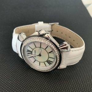 Bezaubernde Armbanduhr -Pierre Cardin - weiß - Zirkonia Steine Lunette