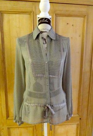 Bezaubernde Bluse - semi-transparent & gepunktet - Esprit Collection - Gr. 36