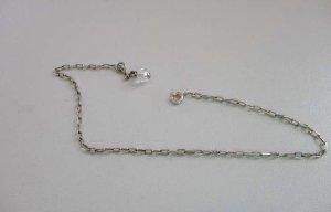 Bezaubernde Silber 925 Fußkette mit Kristallkugel geschliffen