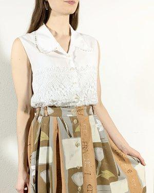 Vintage High Waist Skirt multicolored