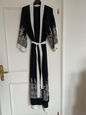 Kimono black-natural white cotton