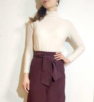 Vintage Maxi Skirt brown violet-blackberry-red