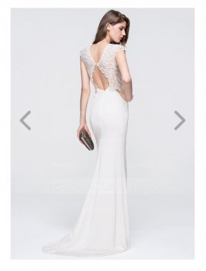 Bezauberndes Braut-/Abendkleid, Gr. 36, ivory - toller Rücken