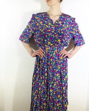 Bezauberndes Vintagekleid/ Retrokleid mit Blütenprint und Gürtel- Made in France