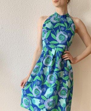 Vintage Sukienka z dekoltem typu halter Wielokolorowy