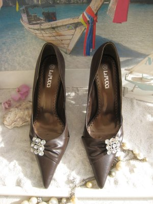 Bezauberne  Schuhe Nougat & Strass Elegant & Edel Top