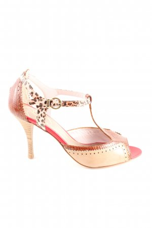 BF Colección Europa Peep Toe Pumps animal pattern business style