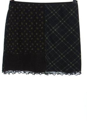 BGD Urban Outfitters Spódnica mini czarny-niebieski Na całej powierzchni