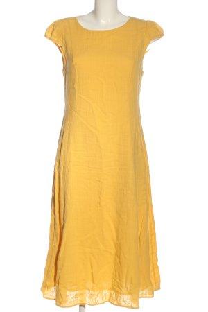 BGN Sukienka midi bladożółty Elegancki