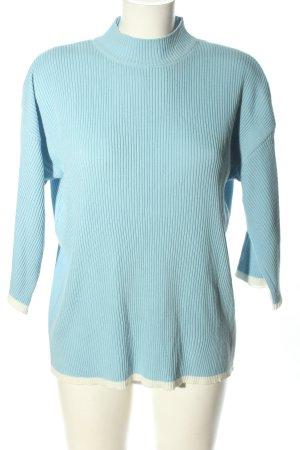 BGN Strickpullover blau Casual-Look