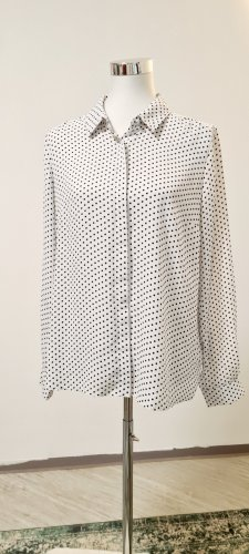 BHS Long Sleeve Blouse white-black polyester