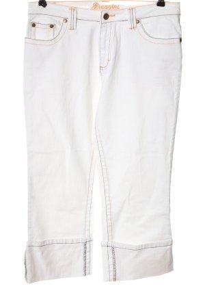 Biaggini Jeans a 3/4 bianco stile casual
