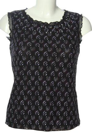 Biaggini Bluzka bez rękawów czarny-niebieski Abstrakcyjny wzór W stylu casual