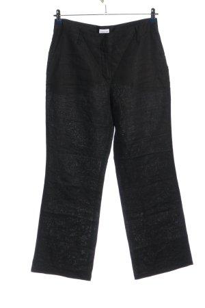 Biaggini Pantalone largo nero puntinato stile casual