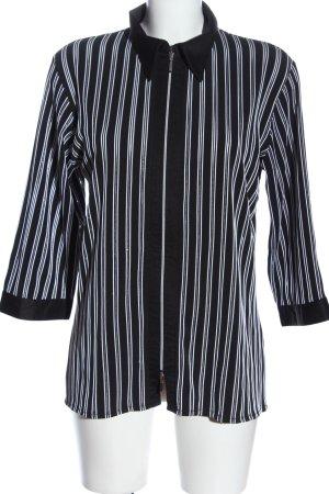 Biaggini Blusenjacke schwarz-weiß Streifenmuster Casual-Look