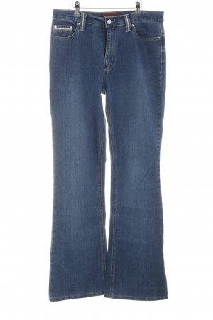 Biaggini Boot Cut Jeans blau Casual-Look
