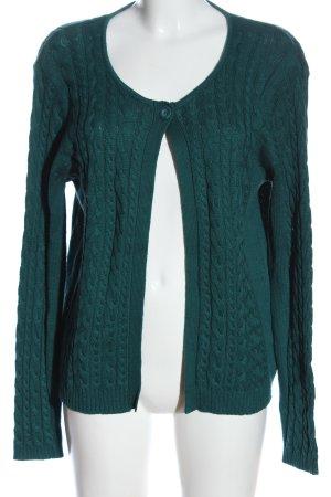 Biaggini Cardigan turquoise torsades style décontracté