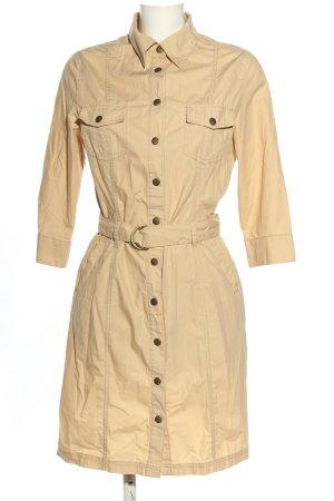 Biaggini Sukienka militarna kremowy W stylu biznesowym