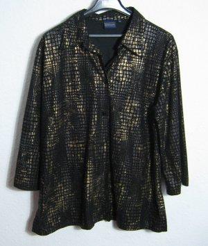 BIAGGINI Festlich Bluse Blazer Größe 50 Schwarz Gold