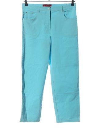 Biaggini Spodnie z pięcioma kieszeniami niebieski W stylu casual