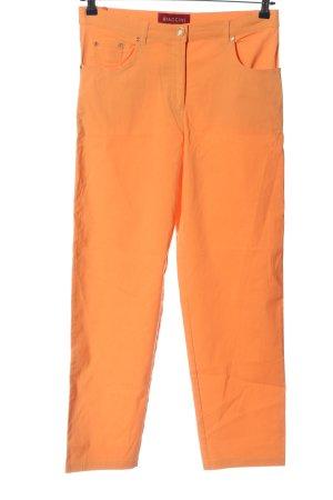 Biaggini Spodnie z pięcioma kieszeniami jasny pomarańczowy W stylu casual