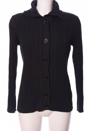 Biaggini Coarse Knitted Sweater black casual look