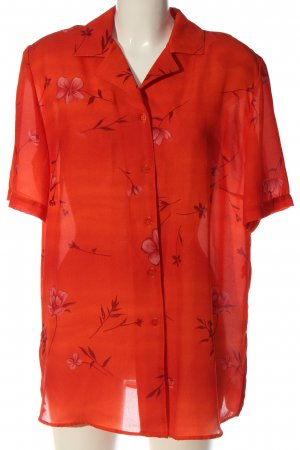 Biaggini Shirt Blouse red allover print casual look