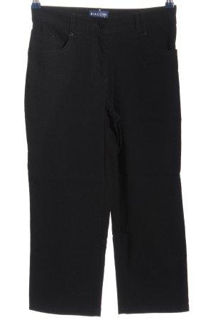Biaggini Pantalone a vita alta nero stile casual