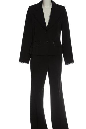Biaggini Tailleur-pantalon noir style décontracté