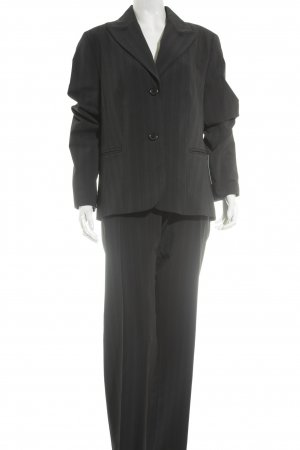 Biaggini Trouser Suit black-blue pinstripe business style