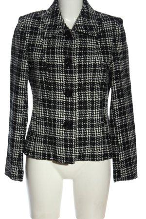 Biaggini Blazer corto nero-bianco stampa integrale stile casual