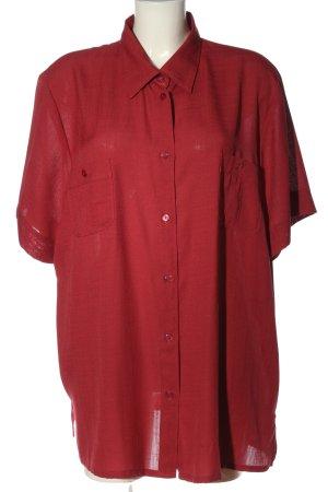 Biaggini Camicia a maniche corte rosso stile casual