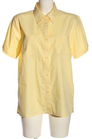 Biaggini Camicia a maniche corte giallo pallido stile casual