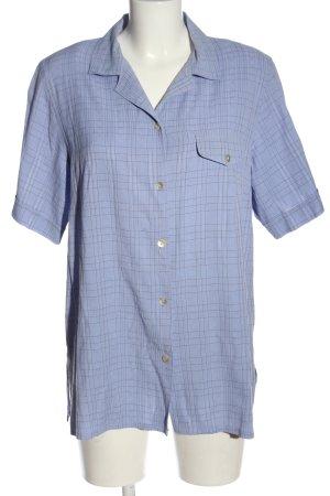 Biaggini Camisa de manga corta azul-negro look casual